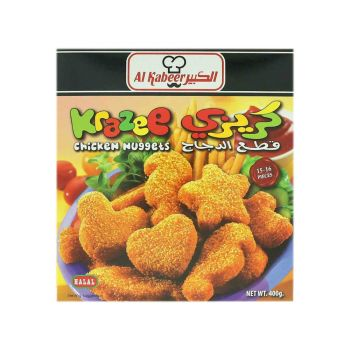 Al Kabeer Chicken And Cheese Nuggets 400 Grams ( Frozen )
