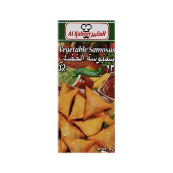 Al Kabeer Vegetable Samosa 240 Grams ( Frozen )