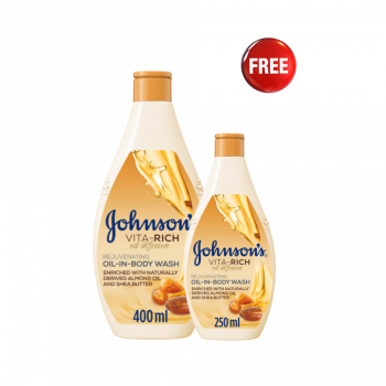 Johnsons Body Wash Oil Infusion 400ml+250ml FREE