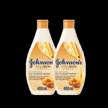 Johnsons Bodywash Oil Infusion 400 ml TWIN 25%OFF
