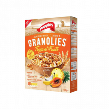 Poppins Granolies Tropical Fruits