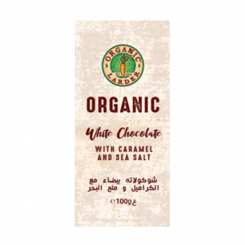 Organic Larder Chocolate White Caramel & Sea Salt