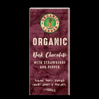 Organic Larder Chocolate Dark With Strawberry & Pepper