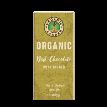 Organic Larder Dark Chocolate With Ginger