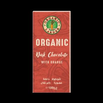 Organic Larder Chocolate Dark With Orange